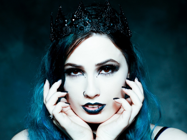 Gothic style female with crown
