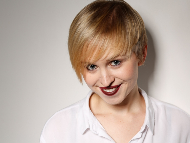 Quirky headshot of female actor