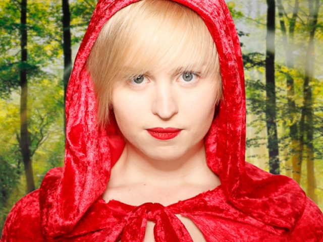 Red Riding Hood in forest